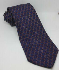 Hermes Purple with Detailed Red Rope Pattern Silk Tie