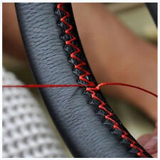 Leather DIY Car Steering Wheel Cover With Needles and Thread US Seller YIN