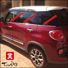 Strisce Cromate sotto finestrini Acciaio Fiat 500L e 500L trekking raschiavetri