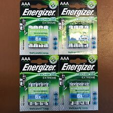 16 x Energizer AAA EXTREME Rechargeable Batteries 800 mAh Pre Charged NiMH LR03