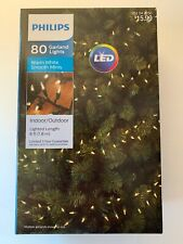 Philips 80ct LED Christmas Smooth Mini Garland String Lights Warm White