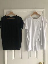 2 ASOS Nursing Tshirts Size Uk 12 Black White