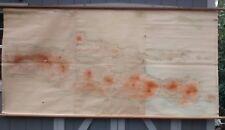 HUGE! 9 ft map Java Indonesia pre-1945 Dutch language hanging map BEAUTIFUL