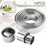 14pcs Round Baking Cutter Mould Set Cookie Biscuit Mousse Pastry DIY