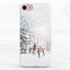 Ciervo de Invierno Bosque Naturaleza Animal Estuche Para iPhone 6S 7 8 Xs XR 11 Pro Plus Max