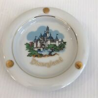 "VTG Disneyland Ash Tray Castle Walt Disney Productions JAPAN Gilded Souvenir 5"""