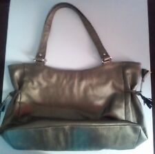 LADIES HANDBAG NAME BRAND PRODUCT CRABTREE & EVELYN SHOULDER BAG GOLD COLOR