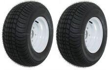 2-Pk Trailer Tire Rim 20.5 8 10 205/65-10 20.5X8.0-10 10 5 Lug E White Wheel