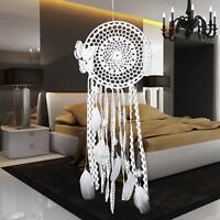 Dream Catcher White Handmade Butterfly Feather Bead Hanging Ornament Decoration
