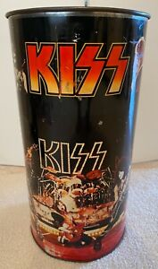 VINTAGE , ORIGINAL 1978 KISS TRASH CAN! DON'T MISS THIS ONE! L@@K!