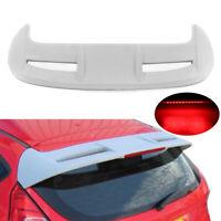 Non verniciata ABS tetto finestra Spoiler alettone per Ford Fiesta MK7 VII 7 8 R