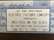 New Kids On The Block - full ticket unused-never torn 12/9/90 Spectrum in Philly