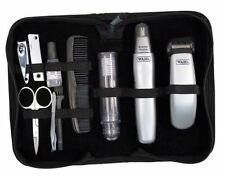 Wahl Grooming Gear Battery-Operated Men's Trimmer and Travel Set in Pouch