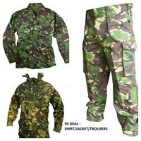 Army JACKET/SHIRT/TROUSERS - DPM CAMOUFLAGE GRADE 1 USED 95 Deal