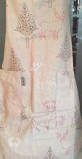Linen&more Küchenschürze Rentier Reindeer taube Landhaus Shabby Baumwolle 75x80