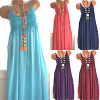 Fashion Summer  Plus Size Mini Dress Beach  Women Summer  Cami Boho Sundress