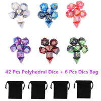 42pcs/Set Dungeons & Dragons MTG Polyhedral Game Dice Six-Color DND RPG Dice