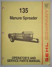 Gehl 135 Manure Spreader Operators & Parts Manual Catalog 9/90 Original