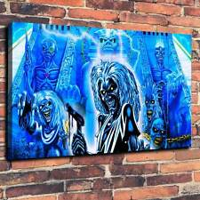 "Iron Maiden Eddie Printed Canvas A1.30""x20""~Deep 30mm Frame"