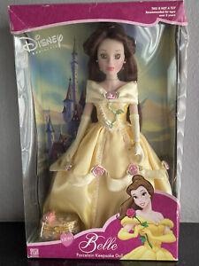 Disney Belle 16 inch Porcelain Keepsake Doll 2002 Brass Key New In Damaged Box