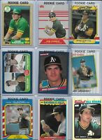 Jose Canseco A's Lot of (30) Different w/ (8) Rookies 1986 Donruss #39 NMint