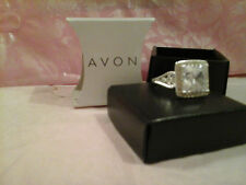 AVON Cz Bling Cocktail Ring - CLEAR - SIZE 6