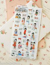 Pony Brown Paperdoll Stickers cute cartoon girl diary planner scrapbook sticker