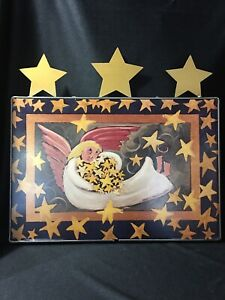 1995 Vintage Nancy Thomas Wall Plaque Gallery Grand STAR GATHERER