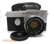 OLYMPUS PEN F 35MM HALF FRAME CAMERA & F ZUIKO 38MM F1.8 LENS & CASE