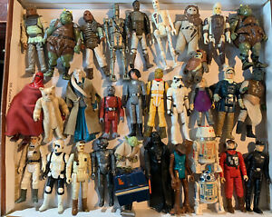 32 Vintage 1977-1983 Star Wars Return of the Jedi Action Figures Lot YODA, Ewoks