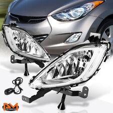For 11-13 Hyundai Elantra 4-Dr Clear Lens Front Bumper Fog Light/Lamp W/Switch