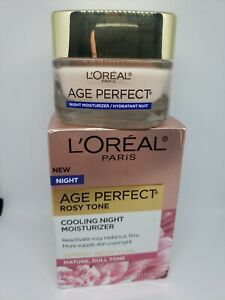 L'Oreal Paris Age Perfect Rosy Tone Cooling Night Moisturizer - 1.7oz Fresh