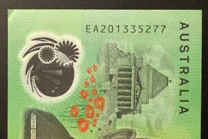 2020 Australia $100 Note ** EA20 ** LAST PREFIX * very lightly circulated * aUNC