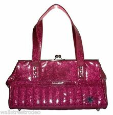 Lux De Ville Starlite hot pink purse kiss lock handbag rockabilly pinup VLV