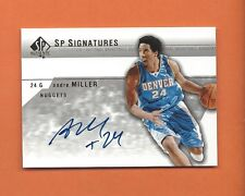 2003-04 SP AUTHENTIC ANDRE MILLER ON CARD AUTO #AM-A DENVER NUGGETS