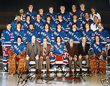 (#287)  New York Ranger signed 1979 Team Picture 3 signatures