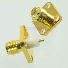 10pcs SMA female with 4 holes flange deck solder RF connector