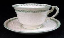 Wedgwood TORBAY GREEN Cup & Saucer Set AM7865 GREAT CONDITION