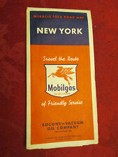 Mobilgas New York Miracle Fold Road Map 1950's