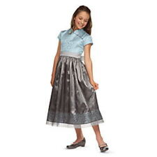 NEW AMERICAN GIRL SILVER BELLE HOLIDAY ORIENTAL DRESS BLUE/GRAY BROCADE  6 7 10