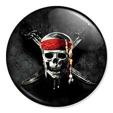 "Pirates of the Caribbean Skull Logo 25mm 1"" Pin Badge Johnny Depp Jack Sparrow 1"