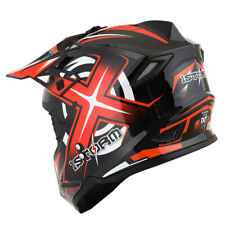 1Storm Adult Motocross Helmet Motorcross ATV MX BMX Dirt Bike Racing Orange