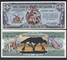 Giraffe Million Dollar Bill Collectible Fake Play Funny Money Novelty Note
