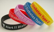 Diabetic Type 2 Set of 5 silicone wristbands Adult