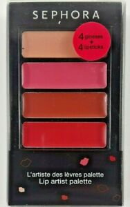 Sephora Cream Lip Stain Set of 4 x 1.3mL Lip Artist Palette
