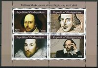 Madagascar 2019 CTO William Shakespeare 4v M/S Writers Famous People Stamps