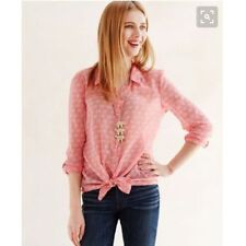 HEI HEI Anthropologie Pink Elephant 100% Cotton Button Down Top Shirt Size M