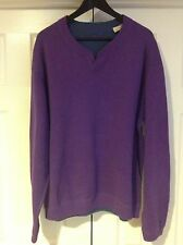 Tommy Bahama V-Neck Sweater Pullover Purple XL