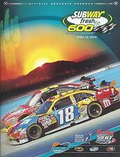 2010 PHOENIX INTERNATIONAL RACEWAY NASCAR SERIES SOUVENIR PROGRAM GORDON, BUSCH