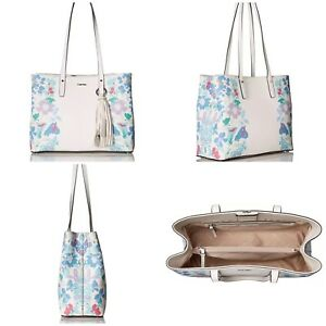NWT Calvin Klein Maggie Floral Printed Saffiano East/West Tote Bag $198